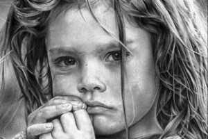 Gadis Kecil di Bawah Hujan