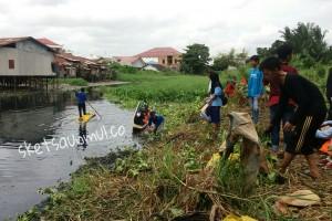 Himasuper Bersihkan Karang Mumus, Pangkalan Pungut 2 Akan Dibangun di Gelatik