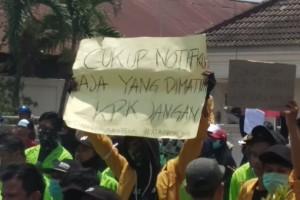Lagi, Aksi Lanjutan di Gedung DPRD Kaltim