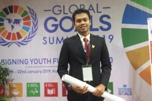 Rahmat Aprilian Putra, Duta Global Goals Action Indonesia 2019