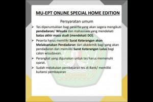 MU-EPT Online, Solusi Selama Pandemi