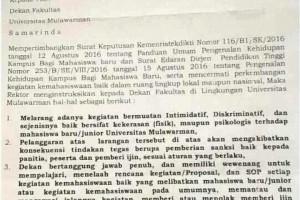 Terbitnya Instruksi Rektor, Larangan Perpeloncoan Kini Jadi Nyata