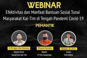 Menelisik Efektivitas Bantuan saat Pandemi dalam Diskusi Publik BEM FEB Unmul